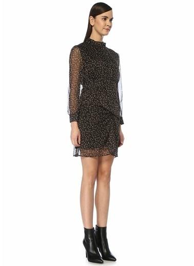 Ghospell Ghospell Nomand  Çiçekli Uzun Kol Mini Elbise 101497590 Siyah